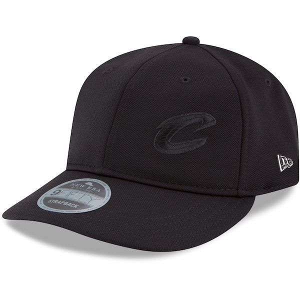 quality design 12702 83b48 ... authentic cleveland cavaliers new era black label flawless retro strap  9fifty adjustable hat black clevelandcavaliers cd6c2
