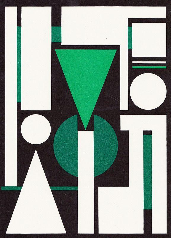 """Auguste Herbin Composition sur le mot """"Non"""", 1951"""