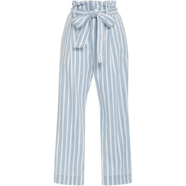 Frame Denim Le Paperbag Trousers ($250) ❤ liked on Polyvore featuring pants, zipper pants, high waisted trousers, high-waist trousers, high-waisted pants and zip pants
