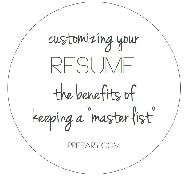 how to customize your resume for a job
