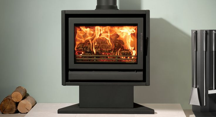 Stovax Riva F66 Pedestal Wood Burning Fire at Fireplacce World Glasgow. http://www.fireplace-world.com