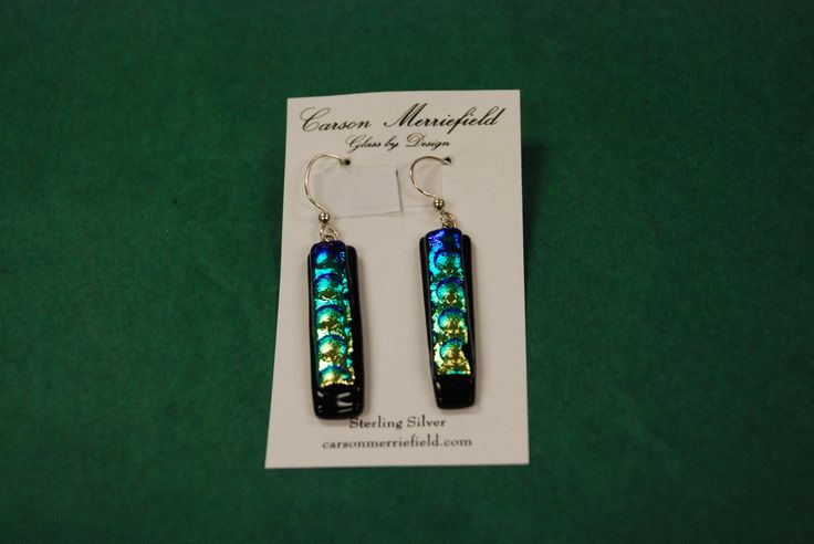 unique glass earrings by Carson Merriefield
