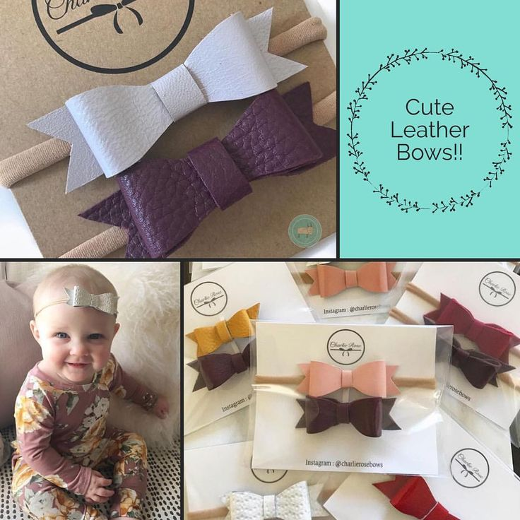 """""""Adorable leather bows from @charlierosebows . . These bows will complete your baby's outfit! Check…"""""""