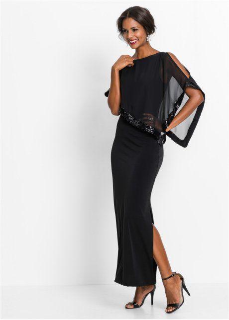 Платье с пайетками, BODYFLIRT boutique, черный