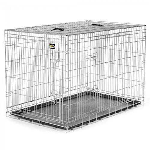 zoomundo xxl cage pliante en m tal avec 2 portes pour. Black Bedroom Furniture Sets. Home Design Ideas