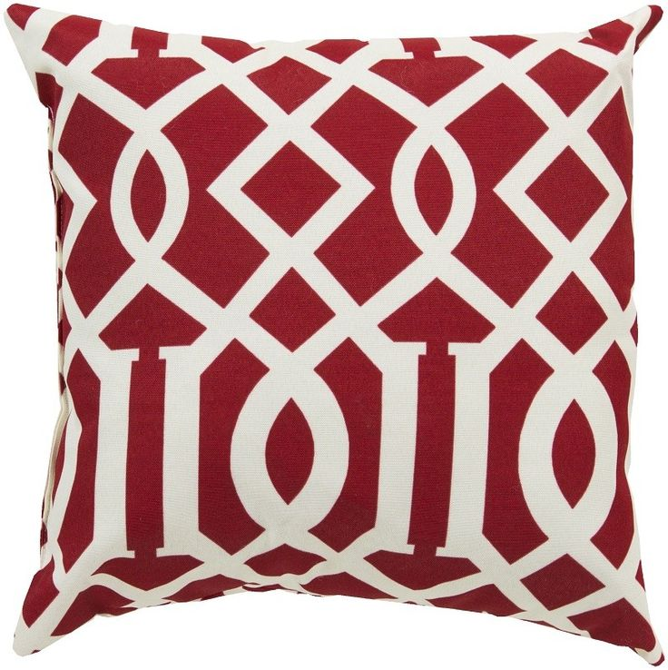 cherry red casbah graphic outdoor square pillow by surya find this pin and more on outdoor pillows