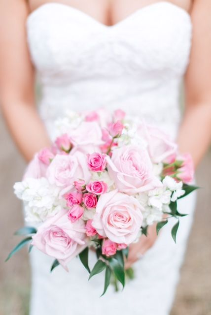Pink Garden Rose Bouquet Beautifully Photographed By Hannah Way