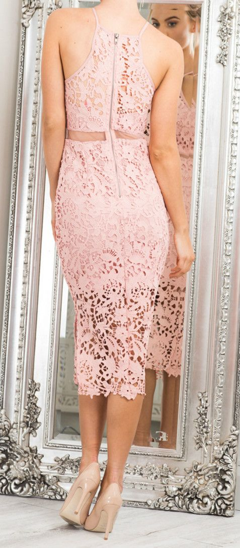 Prepare for the holiday! This Lace Crochet Bodycon Dress made from high quality lace. You can deny it.