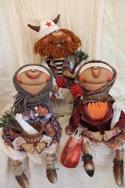 Коллекционные куклы ручной работы. Ярмарка Мастеров - ручная работа Банный день(Митрич). Handmade.
