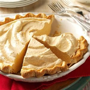 Fluffy Pumpkin Pie Recipe from Taste of Home -- shared by Phyllis Renfro of White Bear Lake, Minnesota