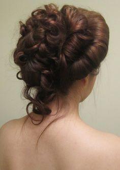 Victorian era wedding hairstlyes, hair pin - Google Search
