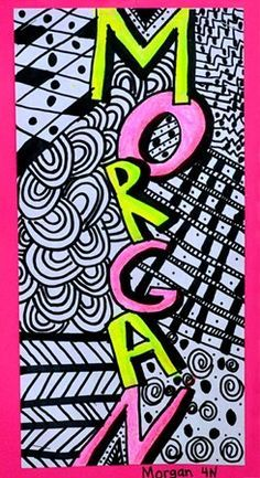 zentangle name art project