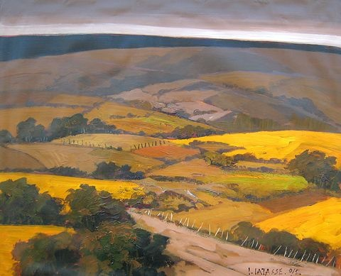 Valle Amarillo  acrylic on canvas  29 by 39 inches