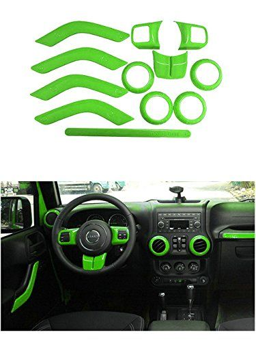 Opall Full Set Interior Decoration Trim Kit Steering Wheel Center Console Air Outlet Door Handle Cover Inner Passenger Seat For Jeep