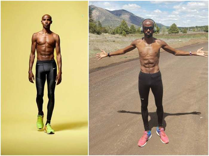 Mo Farah`s weight - 128 pounds (58 kg)