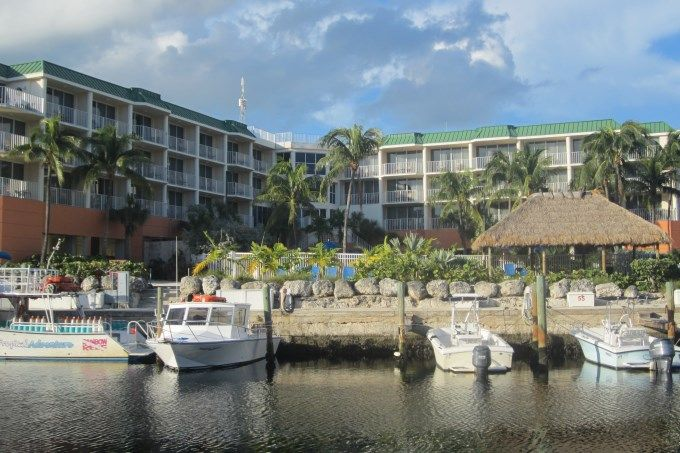 The Courtyard Marriott Hotel, at the Key Largo's Resorts Marina.