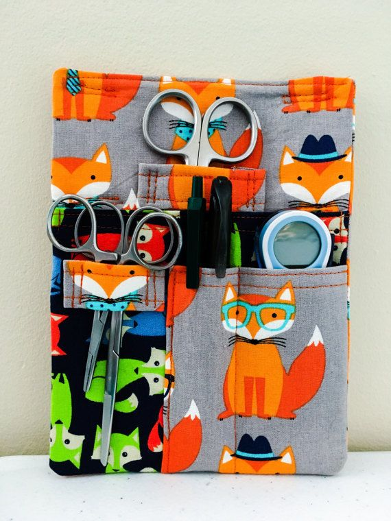 Fox Tool Belt Pouch Scrub Pocket Organizer Vet Tech Vet Doctor Nurse