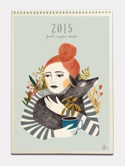 FRANKIE CALENDAR 2015 by Frankie Magazine #calendar #holiday #2015