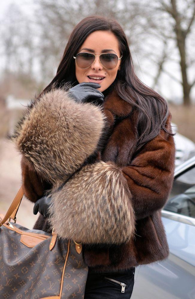 d894c5f52909 New brown saga mink fur jacket fox class of sable chinchilla coat ...