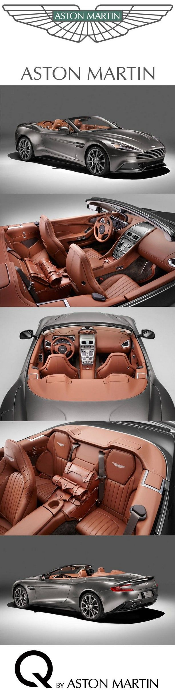 This Vanquish Volante adopts a new Q exterior paint finish – Frosted Silver – which has superior light to dark travel