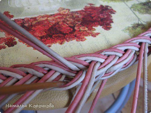 Поделка изделие Декупаж Плетение Постигаем новое подсказки Картон Салфетки Трубочки бумажные фото 15
