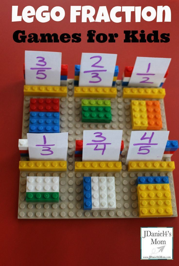 Lego Fraction Games for Kids - this is such a fun, hands on way for kids from Kindergarten, 1st grade, 2nd grade, and 3rd grade to learn about fraction in math.