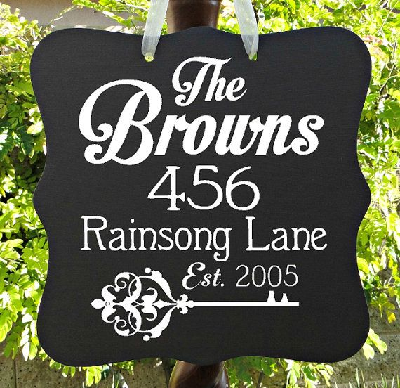 Home Address Sign Personalized Last Name Housewarming