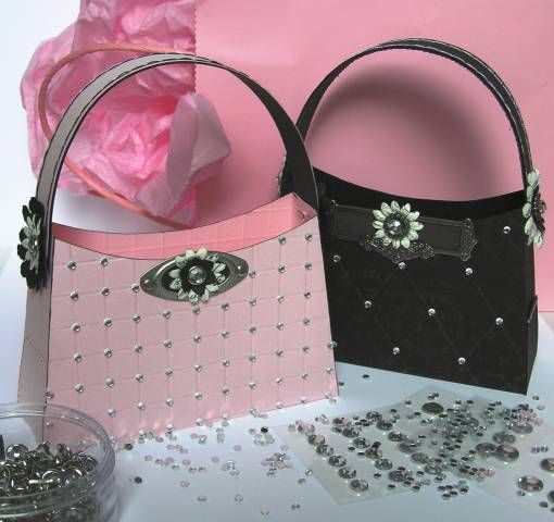jeweled Purse Boxes (with template) by stampztoomuch - Cards and Paper Crafts at Splitcoaststampers