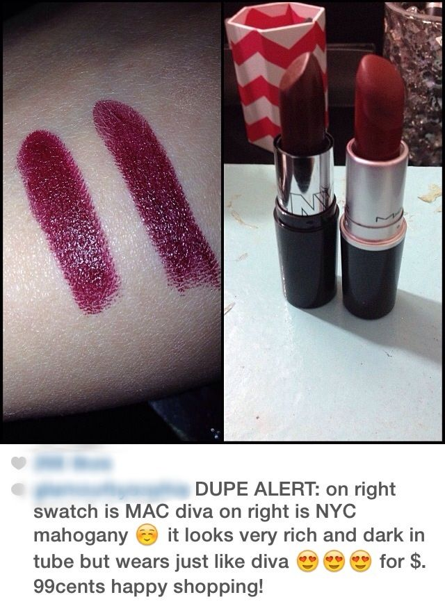 NYC Mahogany is a dupe for MAC Diva
