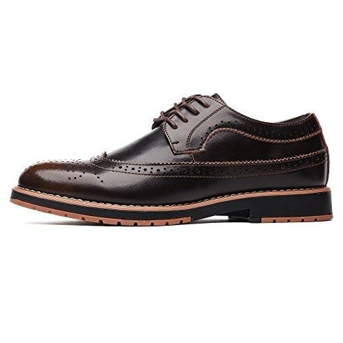 Oferta: 33.49€. Comprar Ofertas de Zapatos de Vestir con Cordones de PU-Cuero - Zapatillas para Hombre Marrón 42 EU barato. ¡Mira las ofertas!