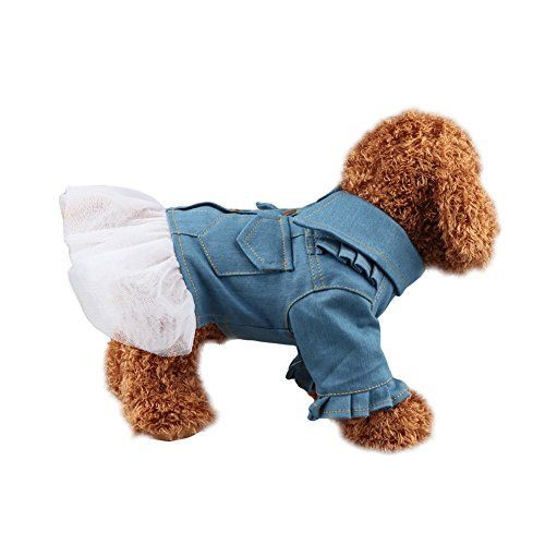6d Pets Lovely Denim Skirt Fashion Dog Cloth Lace Dress for Dog (XL) ** Be sure to check out this helpful article.