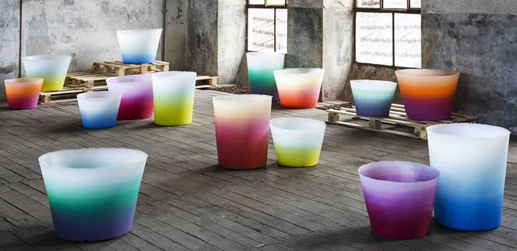 Collection of vases by Serralunga design