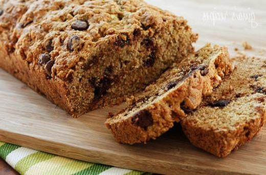 Low Fat Chocolate Chip Zucchini Bread | Healthy Eating Recipes | Pint ...