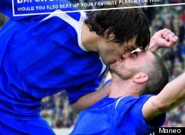 Gay German soccer kiss!