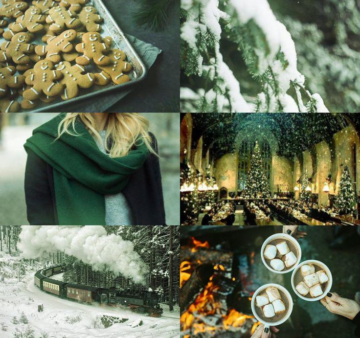 harry potter aesthetics: slytherin winter/christmas 1/2