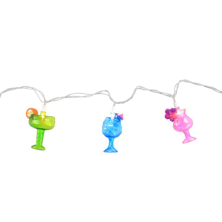 Northlight Happy Hour Colorful Cocktails Patio and Garden Novelty Lights - 32208227