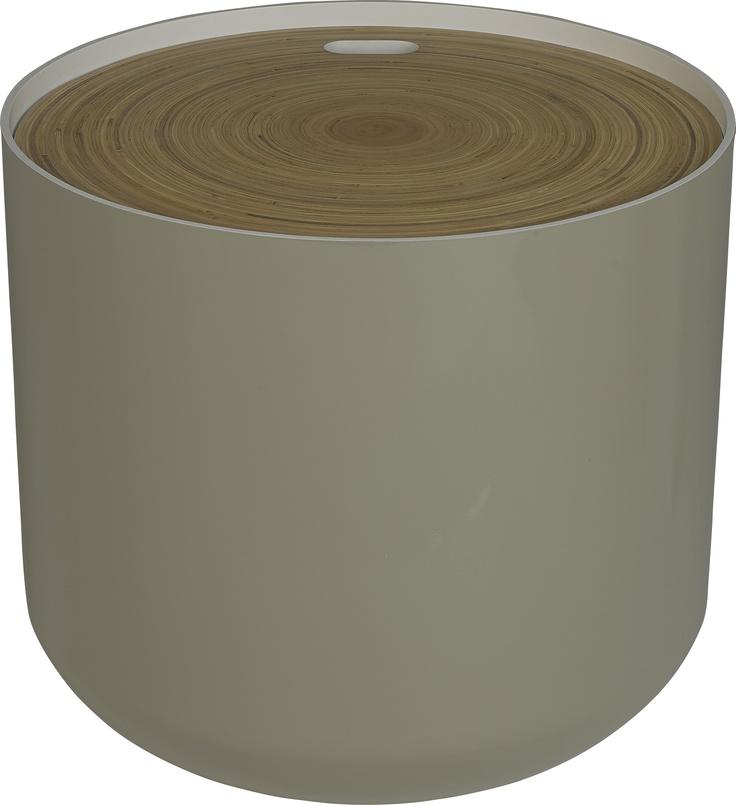 Blyth bord med oppbevaring og tosidig lokk. Ø48cm Kr. 1115,-