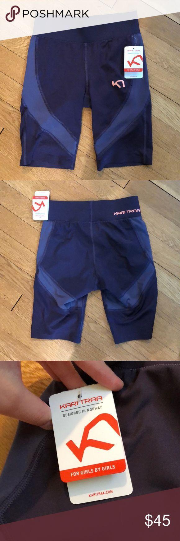 Mauve spandex NWT by Kari Traa NWT biker shorts in a deep purple/Mauve. Kari Tra…   – Biker Shorts