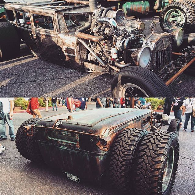 Turbo diesel rat rods are a thing now. I like 'em.