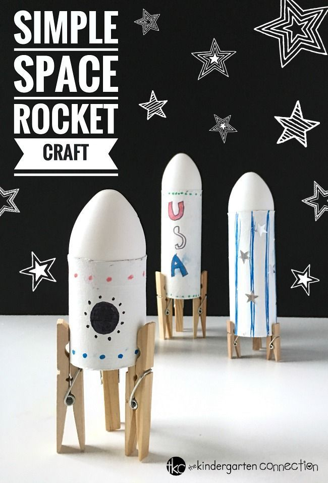 Simple Rocket Space Craft für Kinder – #Craft #fo…
