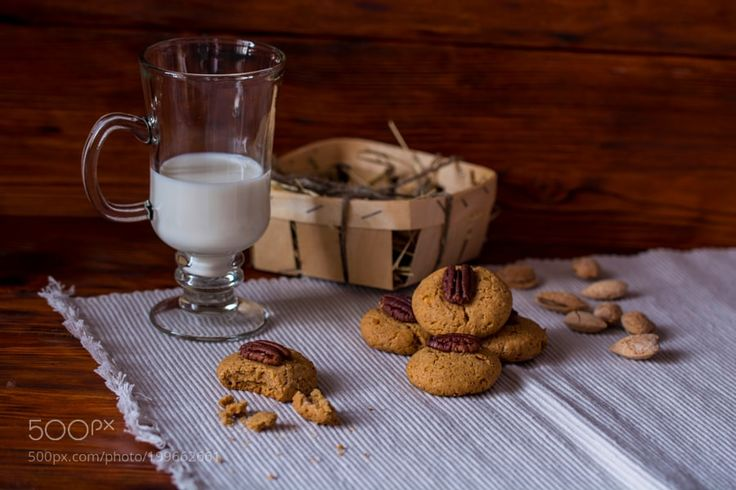 Nut biscuits with milk by berc-79