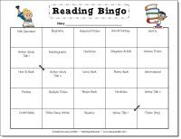 Reading Bingo freebie