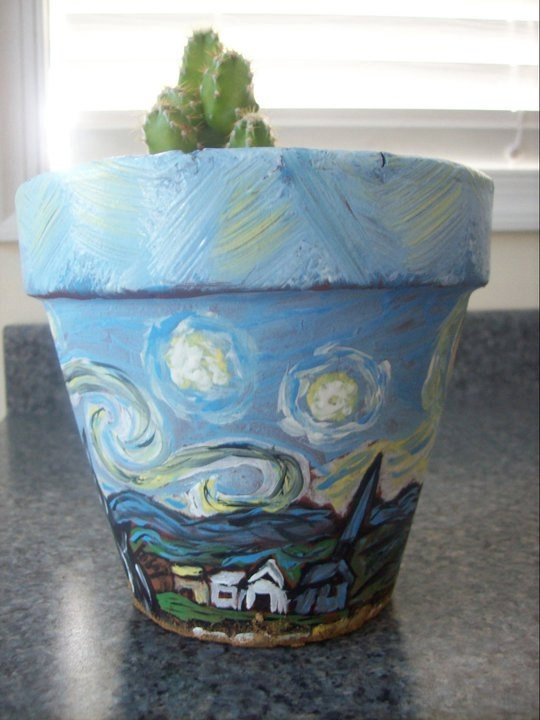 Hand Painted Flower Pots by BuggyBeanDesigns Custom Painted Designs https://www.facebook.com/buggybeandesigns