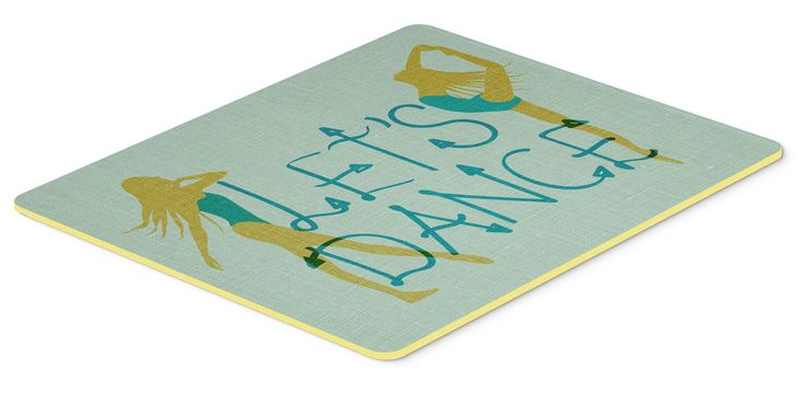 Let's Dance Linen Teal Kitchen or Bath Mat 20x30 BB5374CMT