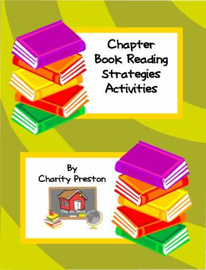 Chapter Book Reading Strategies Activities  Start off with a welcome video that gives tips for how to use in your classroom. A GREAT way to integrate 12 vital reading strategies, multiple intelligences, and authentic assessment. All 60 activities can be used with ANY chapter book! This is a fantastic and easy tool (with little or no prep work) that can be used for centers, book reports, gifted intervention, sponge activities, and more! Also includes a Data Chart for tracking progress!