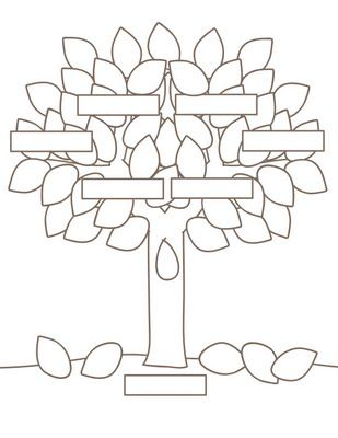 Printable Tree Pattern | Plaids and Prints: Family Tree Project