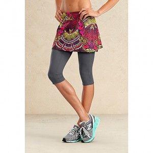 running skirt - article against running skirts - CYA printed mesh skirt by Athleta