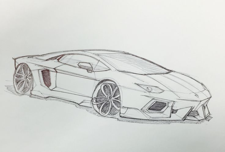 Lamborghini Aventador sketch | drawings | Pinterest ...