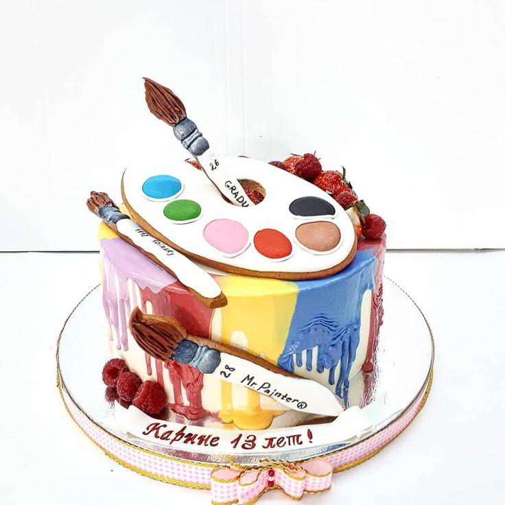 камень удивителен торт палитра с красками фото пушистых одуванчиков, цветущих