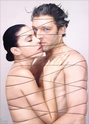 Monica Bellucci + Vincent Cassel  by Jean Baptiste Mondino